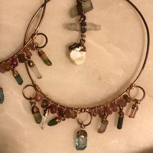 Multi gemstone hoops